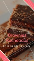 Escolha a sua opção de recheio, e se delicie com os nossos brownies! Encomendas ☎️ XXXXXX #brownies #doces #ahazouapp #confeitaria