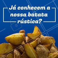 Essa porção é uma das mais pedidas da casa. Está esperando o que para vir provar? #batatarustica #bar #ahazougastronomia #porcao #food