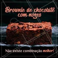 Melhor combinação do mundo, concordam? ❤️️ #brownie #chocolate #nozes #ahazouapp #doces #amor #loucosporbrownie