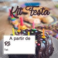 Encomende seu kit festa com a gente! ☎️ XXXXXX #kitfesta #doces #ahazouapp #aniversario #festa