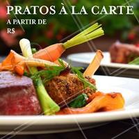 Temos diversas opções de pratos à la Carte. Venha experimentar! #alacarte #restaurante #ahazouapp #food