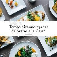 Venha experimentar! #alacarte #restaurante #ahazouapp #food