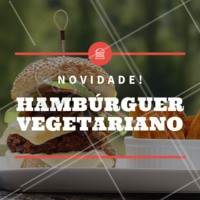Para os vegetarianos, temos novidade para vocês! Venham provar o nosso hambúrguer vegetariano. #hamburguer #vegetariano #ahazouapp #burger #novidade