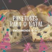 O Natal está chegando e a gente já pensa logo em comer panetones deliciosos! Além de ser um ótimo presente, né? Encomende o seu com a gente ☎️ XXXXXX #panetones #natal #ahazouapp #doces