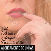 Quer unhas longas e lindas? Olha só quantas opções de alongamento para você escolher! 💅 #alongamentodeunha #ahazou #unha #manicure