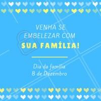 Que tal comemorar o Dia da Família com beleza? Sim, aqui temos serviços para a família inteira se embelezar! 😍 #diadafamilia #ahazou #temporal #beleza #salaodebeleza