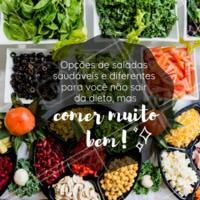 Quem disse que saudável não é gostoso? Venha provar as nossas saladas e se apaixonar! #salada #saudavel #healthyfood #ahazouapp #comidasaudavel #dieta