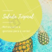 Já experimentou as nossas saladas tropicais? Combinam perfeitamente com o verão. Peça já a sua! #saladas #saudavel #ahazou #ahazougastronomia #verao #tropical