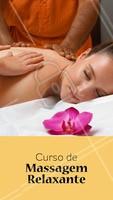 Para saber mais sobre o nosso curso de massagem relaxante, entre em contato pelo nosso telefone XXXXXX #curso #massagemrelaxante #ahazou #massagem #saude #bemestar