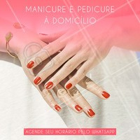 Que tal fazer as unhas sem sair de casa? Entre em contato e agende o seu horário! #manicure #pedicure #ahazou #unhas