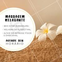 Agende seu horário e sinta-se renovado! #massagemrelaxante #ahazoumassagem #massoterapia