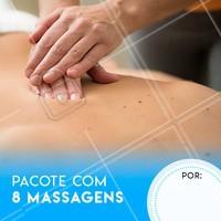 Aproveite o pacote especial e venha relaxar! #massagem #ahazoumassagem #massoterapia
