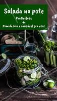Salada no pote além de novidade é algo prático e saudável. Já reservou o seu potinho de hoje? #saladadepote #ahazougastronomia #saude