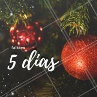 Faltam 5 dias para o Natal! #natal #ahazou #familia #25dedezembro