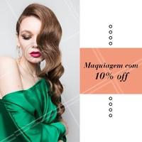 Aproveite esse desconto e agende o horário da sua make! 💄 #maquiagem #ahazou #makeup