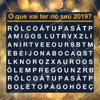 Vamos descontrair?  A primeira palavra que você achar irá definir seu ano novo. Valendoooo! #ahazou #anonovo  #fimdeanoahz