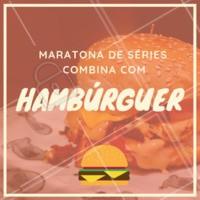 Nada melhor do que maratonar suas séries prediletas e pra acompanhar, um delicioso hambúrguer 🍔❤ Peça já o seu, XXXXXXX #hamburguer #burger #ahazougastronomia #ahazouapp #amorporhamburguer #series