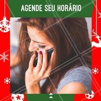 Ligue e agende seu horário para as festas de fim de ano, com antecedência!  #festas #ahazou #fimdeanoahz