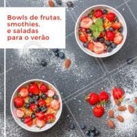 Essa tendência das refeições em bowls, ou tigelas, está ganhando cada vez mais espaço na gastronomia. E no verão, tende a crescer ainda mais. As comidas nas tigelas normalmente são refrescantes e ótimas para quem procura opções saudáveis. #bowls #food #poke #ahazouapp #gastronomia #verao