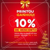 Neste natal nosso presente é pra você!   Tire um print desse post, apresente, e ganhe na hora 10% DE DESCONTO em qualquer um dos nossos serviços ! #ahazou #campanhanatalahz #natal #promocao #anonovo