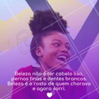 Nada é mais lindo que a sua felicidade. #cabelo #ahazou #motivacional