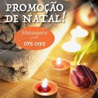 Estamos em clima natalino, aproveite nossa promoção! #massagem #promocao #ahazouapp #natal