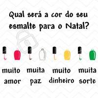 E aí, já decidiu? Comente aqui sua favorita do momento!  #natal #ahazou #manicure