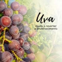 A uva ajuda a reverter o envelhecimento! #frutas #ahazou #dicas