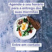 Agendamos o melhor horário para você. Peça já a sua! ☎️ XXXXXX #marmitas #comidasaudavel #ahazouapp #food