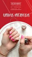 Aproveite as promoções desse mês e agende seu horário! #manicure #Unhas #ahazou #dezembro #promoçao