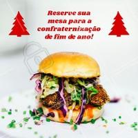 Estamos com reservas abertas para você trazer sua confraternização de final de ano pro nosso restaurante! Entre em contato e reserve já! ☎️ XXXXXX #hamburguer #ahazouapp #fimdeano #food