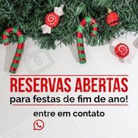 Estamos com reservas abertas para você trazer sua confraternização de final de ano pro nosso restaurante! Entre em contato e reserve já! ☎️ XXXXXX #food #ahazouapp #fimdeano