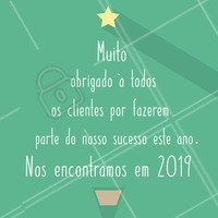Que 2019 seja um ano de sucesso e conquistas como 2018 foi!  #anonovo #ahazou #reveillon