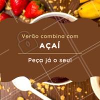 Verão pede um açaí, né? 😎 #verao #acai #ahazouapp #calor