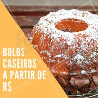 Temos diversos sabores para você! #bolocaseiro #doces #ahazouapp #cafeteria