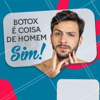 Hoje em dia encontrar um homem que já aplicou botox é mais comum do que imaginamos! Agende seu horário e tire todas suas dúvidas. #toxinabotulinica #esteticafacial #ahazou #botox