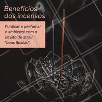 O Incenso possue muito mais benefícios que variam de acordo com seu aroma. #incenso #beneficios #aromaterapia #ahazouapp #terapiasalternativas #bemestar