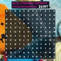 Seu pet merece entrar o ano com um presentinho novo, não acha?! #pet #ahazou #2019 #cacapalavras