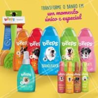 💧 Com Beeps seu amigão vai ficar muito mais cheiroso! 🐶🐱 Compre aqui! #beeps #petshop #ahazoupet #banhodivertido #omelhoramigodobanho