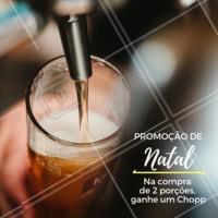 Não perca essa promoção natalina! Venha curtir o final de ano com a gente 🍻 #promocao #chopp #porcao #ahazouapp #natal #bares