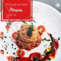 Não perca essa promoção natalina! Venha curtir o final de ano com a gente e provar nossas deliciosas massas 🍝 #promocao #massas #ahazouapp #natal #comidaitaliana
