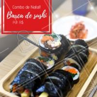 Não perca nosso combão de Natal! 🍱 #promocao #sushi #ahazouapp #natal
