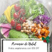Não perca essa promoção natalina! Temos diversas opções de pratos vegetarianos e veganos #promocao #veggie #vegetariano #vegano #ahazouapp #natal