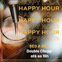 Faça seu happy hour aqui com seus amigos e tenham double chopp até às 19h! #happyhour #bar #chopp #ahazougastronomia #beer #doublechopp