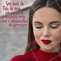 Termine o ano em grande estilo! Invista no seu olhar. #fimdeano #ahazou #cilios #sobrancelhas