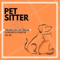 Não sabe com quem deixar seu pet nas férias? Eu cuido dele, com MUITO amor! 🐶🐱❤️️ Entre em contato para maiores informações XXXXXX #pet #petsitter #nanny #ahazoupet #ferias