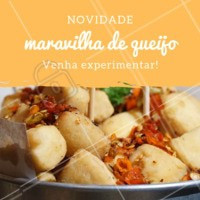 Quem é que não ama queijo? Venham provar essa novidade! #queijo #bar #cheese #ahazougastronomia #novidade