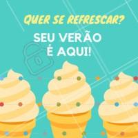 Venha se refrescar provando os nossos deliciosos sorvetes. 🍦🍨🍧 #sorveteria #verao #ahazou #sorvete #amosorvete