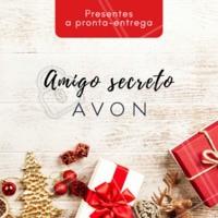 Procurando um presente especial de amigo secreto? Que tal presentear com produtos Avon? Temos a pronta entrega. Entre em contato para saber mais! #avon #ahazou #revendedoras #natal #presentes