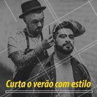 Estilo é aqui! 👊 Agende seu horário.  #barbearia #ahazou #verao